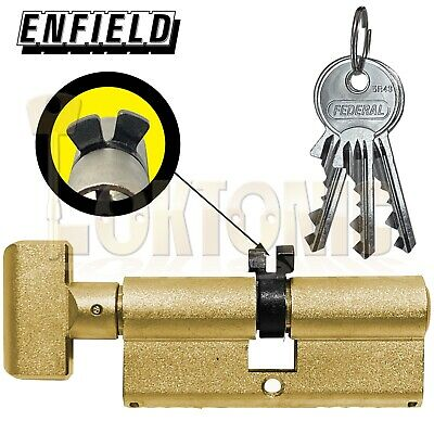 £32 • Buy Enfield Contract 363 Turn Knob Euro Twin Y Cam Cylinder Deadlock Suit Banham