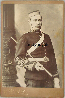 £6.01 • Buy Cabinet Card Military Officer Charles Stobie Southsea Antique Photo