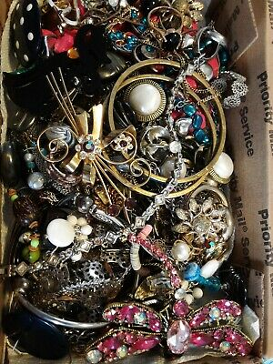$ CDN18.20 • Buy #15 Vintage To Now Estate Find Jewelry Lot Junk Drawer Unsearched Untested Wear