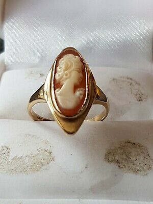 £175 • Buy Gorgeous Vintage Solid 9ct Gold Cameo Ring Size O.. Fully Hallmarked
