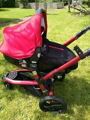 £150 • Buy Jané Trider 3 In 1, 3 Wheel Travel System Red Pram In Very Good Condition