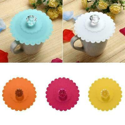 £2.36 • Buy Anti-dust Silicone Cup Lid Glass Drink Cover Coffee Mug Suction Seal Cap