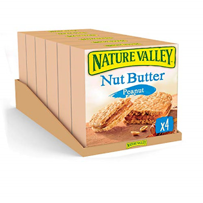£12.41 • Buy Nature Valley Nut Butter Peanut Biscuit Cereal Bars 4 X 38g Pack Of 6, Total 24