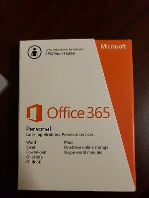 AU66.53 • Buy Microsoft Office 365 Personal 12-Month Subscription 1 PC Or Mac 100% Authentic