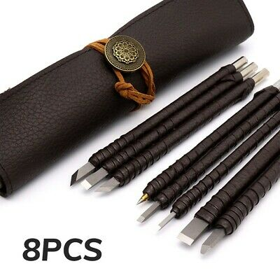 £13.99 • Buy 8/10pcs Tungsten Steel Stone Carving Sculpting Kit Carbide Hand Chisel Tool /Bag