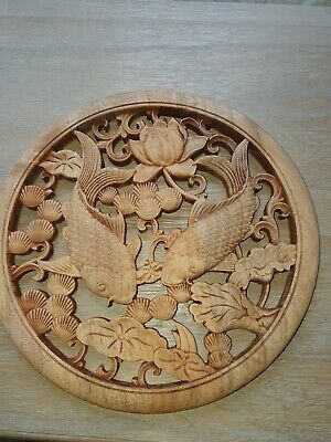 £24 • Buy Chinese Carved Wood Plaque