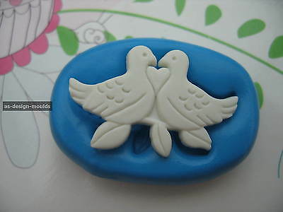 £4.20 • Buy White Doves/Love Birds Wedding Silicone Mould/Mold Sugar Craft, Cupcake Toppers