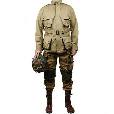 $98.67 • Buy WWII US Army Paratrooper M42 Uniform Jacket Pants Airborne Field  Clothing Set