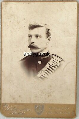 £5.50 • Buy Cabinet Card Soldier Rifle Brigade Northampton Studio Islington Military Photo