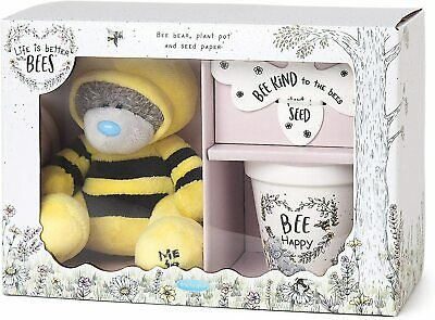 £20.99 • Buy Me To You AGZ01093 Bee's Wildflower Gift Set-Tatty Teddy, Plant Pot & Seed Paper