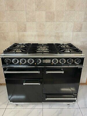 £1590 • Buy Falcon 110cm Dual Fuel Multifunction Range Cooker In Black And Chrome. Ref--f96