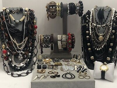 $ CDN3.94 • Buy Huge Vintage To Now Jewelry Lot - Estate Find - All Wearable Pieces - 4 Lbs +