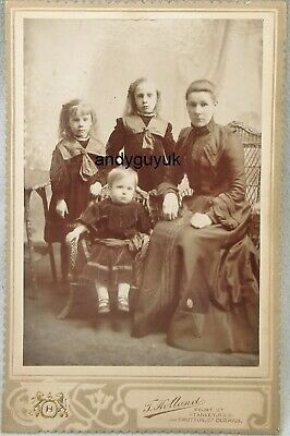 £6.95 • Buy Cabinet Card Lady Girls By Holland Shotton Durham Stanley Antique Photo