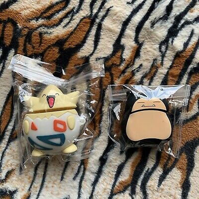 $ CDN19.41 • Buy Pokemon Silicone Case For Apple AirPods 1 2 Protective Cover Snorlax & Togepi
