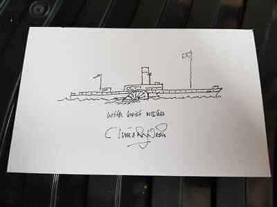 £19.99 • Buy Signed Timothy West Artwork Charity Auction Dad's Army Great Canals Prunella
