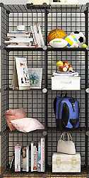 AU48.99 • Buy 8 Cube Modular Storage Shelf Unit Metal Wire Bookcase Wardrobe Decor Display AU