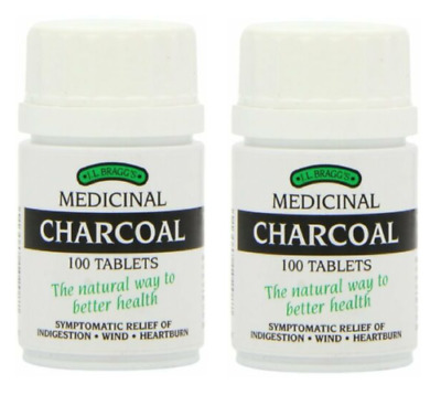 £10.49 • Buy Bragg's Charcoal - 100 Tablets Pack 2