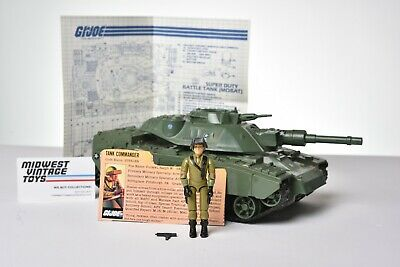 $ CDN67.76 • Buy Vintage GI JOE VEHICLE 1983 MOBAT TANK W/ DRIVER STEELER 100% Complete HASBRO