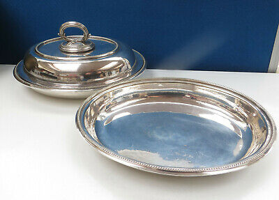 £29.99 • Buy Vintage Beaded Silver Plated Entree Dish Plus Extra Dish - Barker Bros