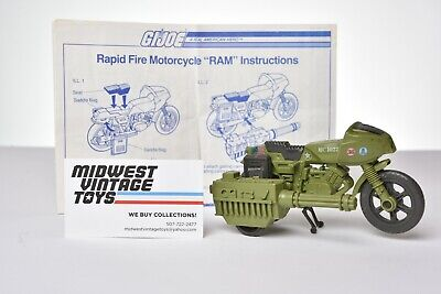 $ CDN18.75 • Buy Vintage GI JOE - VEHICLE 1982 RAM MOTORCYCLE 100% COMPLETE - HASBRO