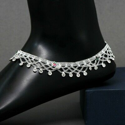 £7.99 • Buy Silver Indian Payal Ankle Foot Jewellery Gift