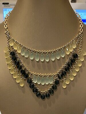 $ CDN3.02 • Buy Beautiful  Lia Sophia  Gold Tone Chain Glass+plastic Faceted Beaded Necklace
