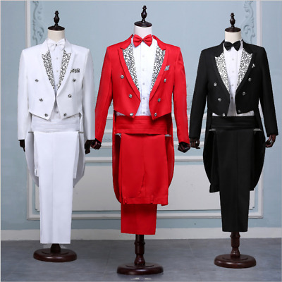 £38.71 • Buy Mens Folwer Wedding Tuxedo Suit&pants Jackets Formal Tail Coats Prom Party