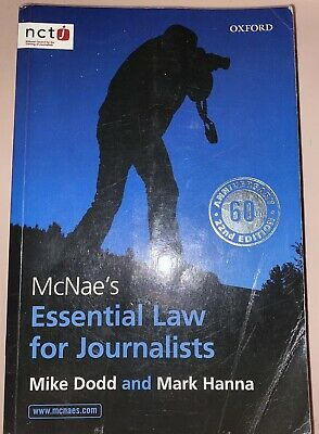 £0.99 • Buy Mcnaes Essential Law For Journalists Nctj Oxford 22nd Edition 60th Anniversary