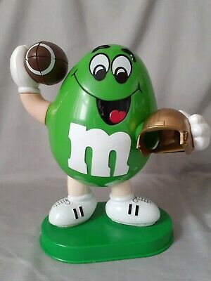 $49.99 • Buy M&m's-  Rare!!    M&m Green Guy Football Player Candy Dispenser-  Great Cond.