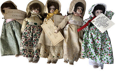 $ CDN24.19 • Buy Vintage Gorham Doll Of The Month Lot Of 5 April Oct Dec July Xmas Porcelain