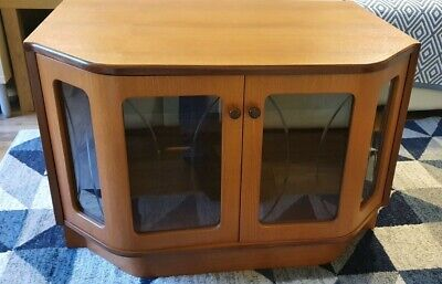 £40 • Buy G Plan TV Cabinet Stand Unit In Teak With Shelve And Glass Doors
