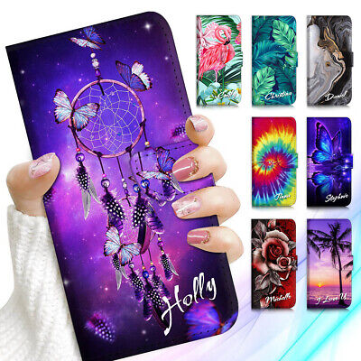 AU13.99 • Buy Personalised Name Wallet Case Cover For IPhone 13 12 11 XS 8 7 6 SE Plus Pro Max