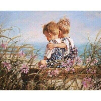 £5.99 • Buy DIY 5D Full Drill Diamond-Painting Embroidery Brother Love Kits Home Decor Mural