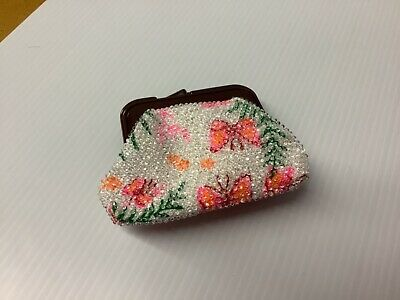 $9.99 • Buy Vintage Beaded Coin Purse  Butterfly