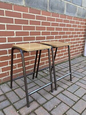 £40 • Buy A Pair Of Original  Science Stools Chemistry, Lab, School Kitchen-wooden