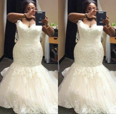 $ CDN12.09 • Buy Sparkling Wedding Dresses Mermaid Sweetheart Trumpet Bridal Gowns Sweep Train