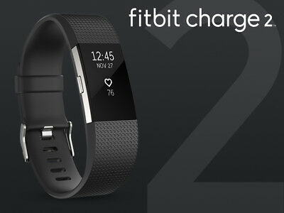 $ CDN96.78 • Buy Fitbit Charge 2 Heart Rate + Fitness Wristband, Black, Large (US Version)