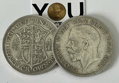 £8.99 • Buy 1920 - 1936 George V Silver Half Crowns Choose Your Year - .500 Silver Coin