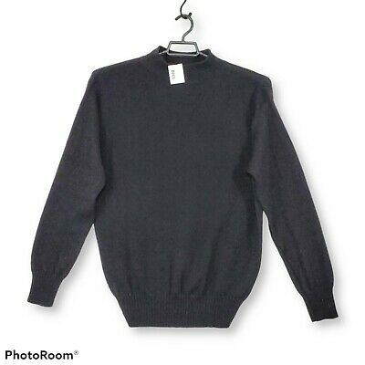 $24.99 • Buy US Army Military Black Wool Mock Neck Sweater Mens Sz XLarge 48 50 Mitts Nitts
