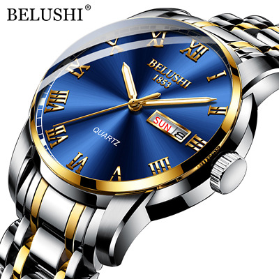 $ CDN24.20 • Buy BELUSHI Luxury Men's Watch - Waterproof - Stainless Steel - Quartz