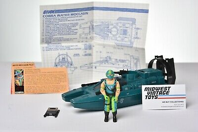 $ CDN1.20 • Buy Vintage GI JOE - VEHICLE 1984 WATER MOCCASIN W/ COPPERHEAD 100% COMPLETE  HASBRO