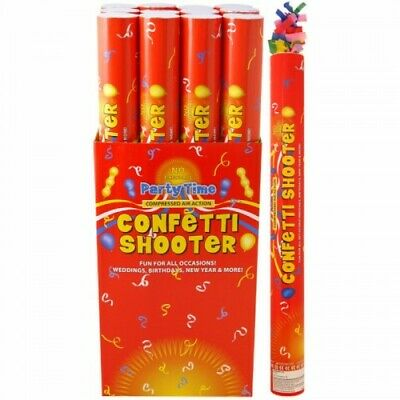 £8.99 • Buy Confetti Shooter Multi Colour Biodegradable 50cm Compressed Air Cannon Party