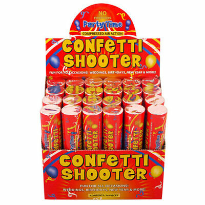 £14.99 • Buy 4 X Confetti Shooter MultiColour Biodegradable 20cm Compressed Air Cannon Party