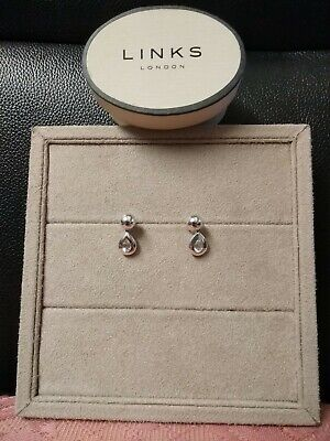 £79.99 • Buy Links Of London Cleopatra Drop Earrings White Topaz New Boxed