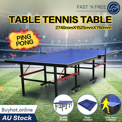 AU339 • Buy Pro Table Tennis Table Standard Race Game Size Foldable Indoor Ping Pong Table
