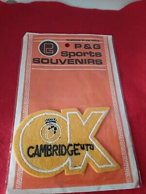£4.99 • Buy RARE OLD CAMBRIDGE UNITED FOOTBALL CLUB CLOTH PATCH CREST BADGE By P&G SPORTS
