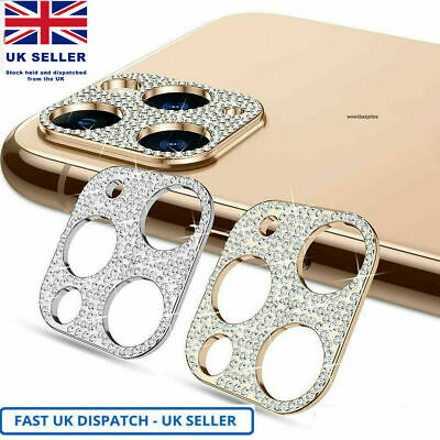 £3.59 • Buy Diamond Camera Lens Protector Case For IPhone 11 12 Pro Max Glitter Cover UK