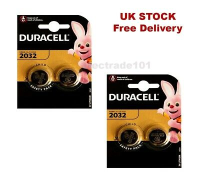 £3.49 • Buy 4 X 3V DURACELL COIN CELL DL2032/CR/BR2032/CR2032 Car Key Fob Remote Battery