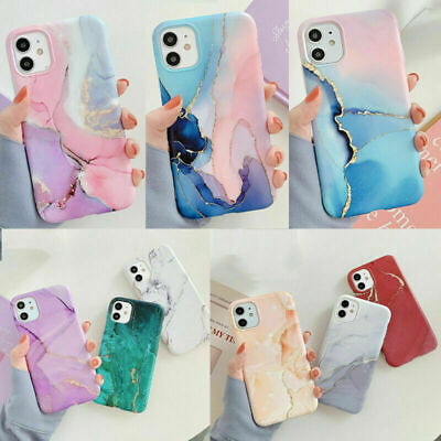 £3.89 • Buy Watercolor Marble Soft Silicone Case Cover For IPhone 12 XR 11 Pro Max XS 8 7 SE