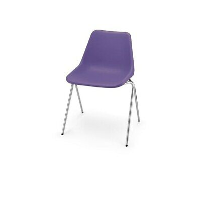 £87 • Buy Hille Lavender Robin Day Poly Side Plastic Chair